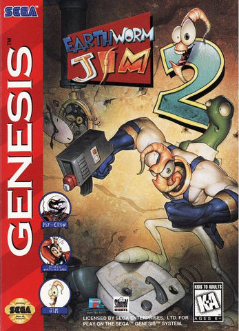 Earthworm Jim 2 - SEGA Genesis [USED]