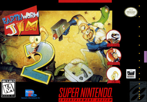 Earthworm Jim 2 - Super Nintendo [USED]
