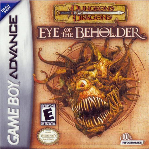 Dungeons & Dragons: Eye of the Beholder - Game Boy Advance (JRPG, 2002, US )