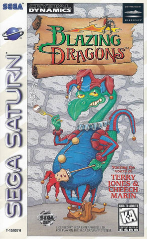 Blazing Dragons - SEGA Saturn [USED]
