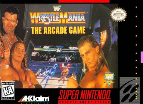 WWF Wrestlemania: The Arcade Game - Super Nintendo [USED]