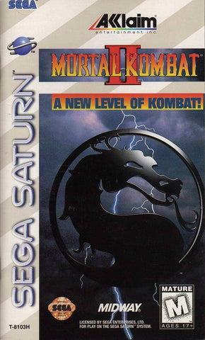Mortal Kombat II - SEGA Saturn Pre-Owned Box Cover SEGA Saturn