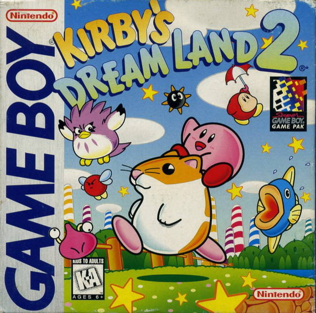 Kirby's Dream Land 2 - Game Boy (Platformer, 1995, US )