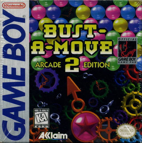Bust-A-Move 2 Arcade Edition - Game Boy (PUZ, 1998, US )