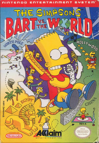 The Simpsons: Bart vs. the World - Nintendo NES [USED]