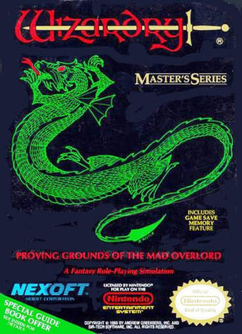 Wizardry: Proving Grounds of the Mad Overlord - Nintendo NES [USED]