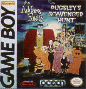 The Addams Family: Pugsley's Scavenger Hunt - Game Boy (Platformer, 1993, US )