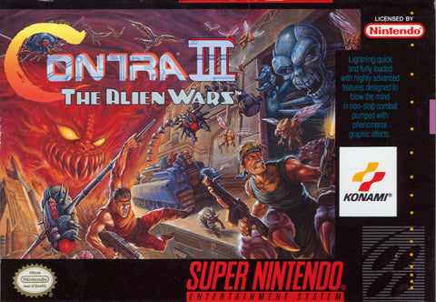 Contra III: The Alien Wars - Super Nintendo [USED]