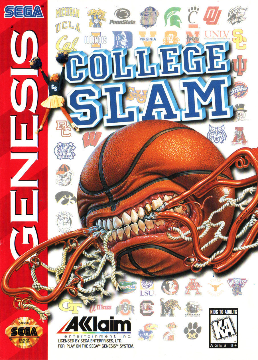 College Slam - SEGA Genesis [USED]