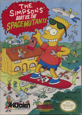The Simpsons: Bart vs. the Space Mutants - Nintendo NES [USED]