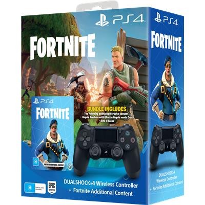 DualShock 4 Wireless Controller for PlayStation 4 - Fornite Bonus Content Bundle