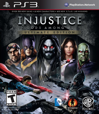 Injustice: Gods Among Us - Ultimate Edition - PlayStation 3 (Fighting, 2013, US)