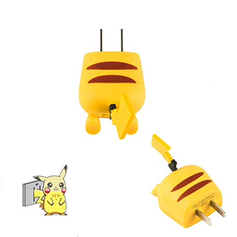 Pikachu Charge USB AC adapter for apple and android phone