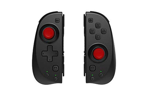 Motion Controllers Pair with a USB Type-C Charging Cable & Joy-Con Alternative Compatible with Nintendo Switch Black