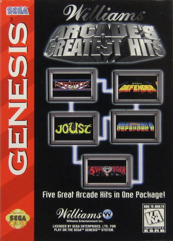 Williams Arcade's Greatest Hits - SEGA Genesis [USED]