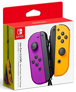 Nintendo Neon Purple/ Neon Orange Joy-Con (L-R) - Nintendo Switch [NEW]