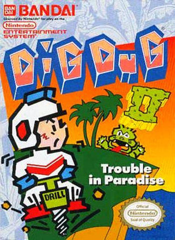 Dig Dug II: Trouble In Paradise - Nintendo NES [USED]