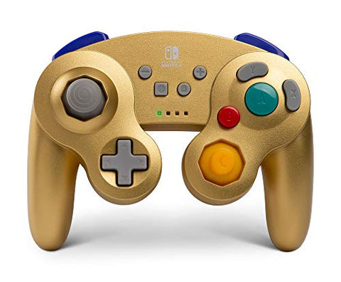 PowerA Wireless Controller for Nintendo Switch – GameCube Style: Gold - Nintendo Switch