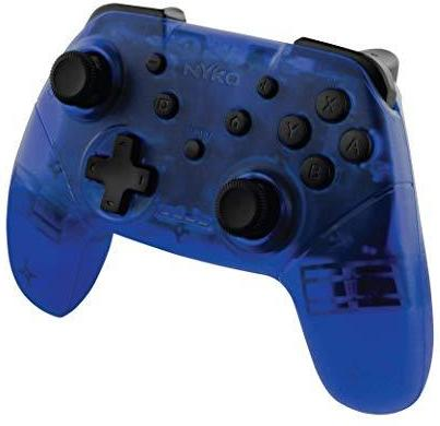 Nyko Wireless Core Controller - Bluetooth Pro Controller Alternative with Turbo and Android/PC Compatibility for Nintendo Switch - Blue