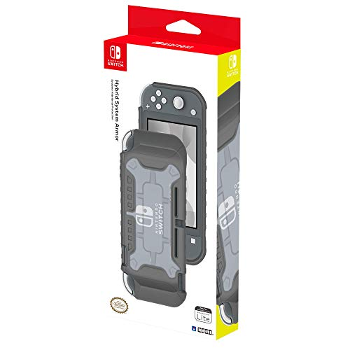 Nintendo Switch Lite Hybrid System Armor (Gray) by HORI - Officially Licensed by Nintendo