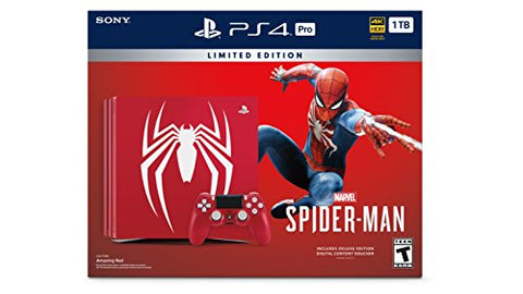 PlayStation 4 Pro 1TB Limited Edition Console - Marvel's Spider-Man Bundle