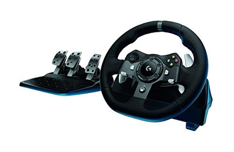 Logitech G920 Dual-Motor Feedback Driving Force Racing Wheel with Responsive Pedals for Xbox One
