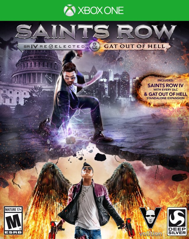 Saints Row IV: Re-Elected & Gat Out of Hell - Xbox One Box Cover