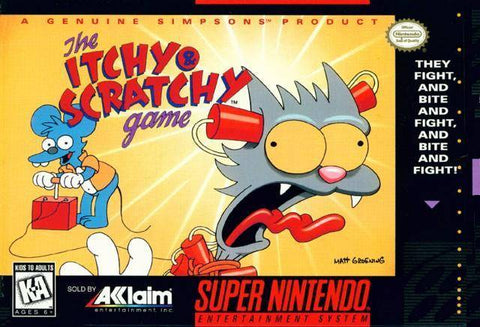 The Itchy & Scratchy Game - Super Nintendo [USED]