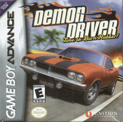 Demon Driver: Time to Burn Some Rubber - Game Boy Advance (RAC, 2003, US )
