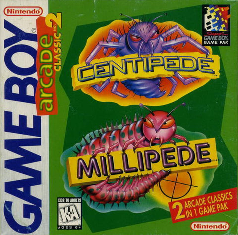 Arcade Classic No. 2: Centipede / Millipede - Game Boy [USED]