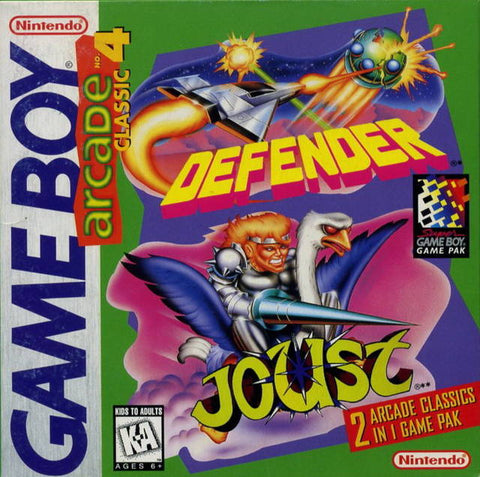 Arcade Classic No. 4: Defender / Joust - Game Boy [USED]
