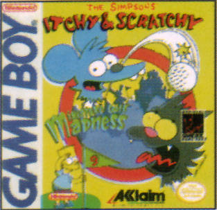 Itchy & Scratchy in Miniature Golf Madness - Game Boy (Sports, 1994, US )