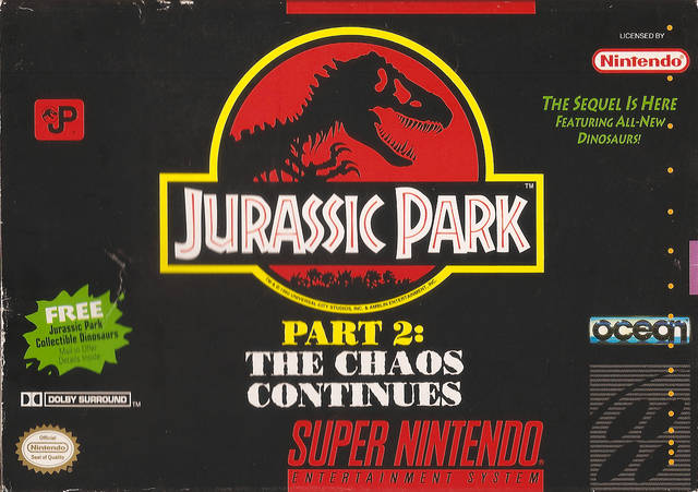 Jurassic Park Part 2: The Chaos Continues - Super Nintendo [USED]