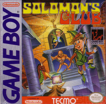 Solomon's Club - Game Boy (Puzzle, 1991, US )