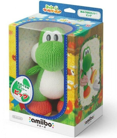 Mega Yarn Yoshi (Yoshi's Woolly World Series) Amiibo (Toys R' Us Exclusive) in Box