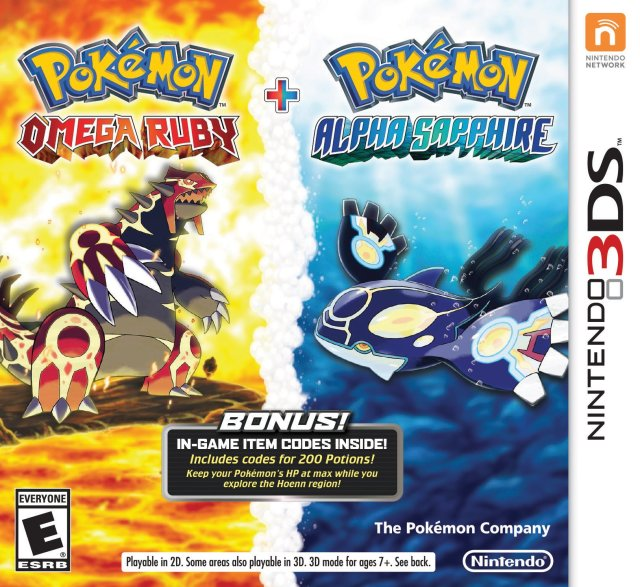 Pokemon Omega Ruby/Alpha Sapphire Dual Pack - Nintendo 3DS [USED]