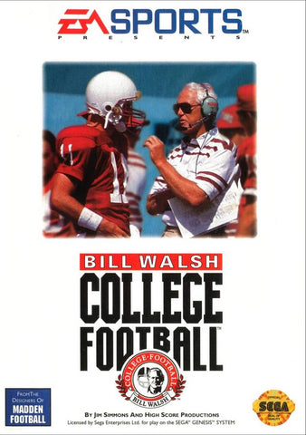 Bill Walsh College Football - SEGA Genesis [USED]