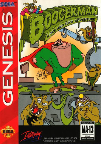 Boogerman: A Pick and Flick Adventure - SEGA Genesis [USED]