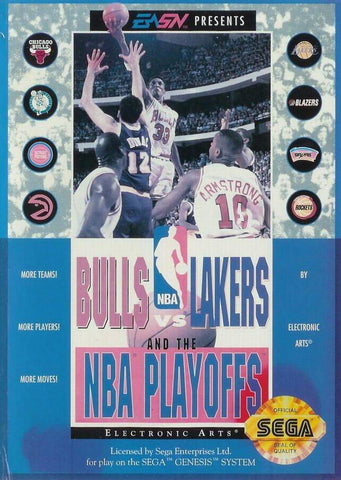 Bulls vs Lakers and the NBA Playoffs - SEGA Genesis [USED]