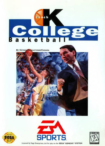 Coach K College Basketball - SEGA Genesis [USED]