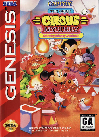 The Great Circus Mystery Starring Mickey & Minnie - SEGA Genesis [USED]