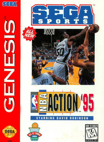 NBA Action '95 starring David Robinson - SEGA Genesis [USED]