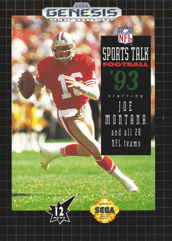 NFL Sports Talk Football '93 Starring Joe Montana - SEGA Genesis [USED]