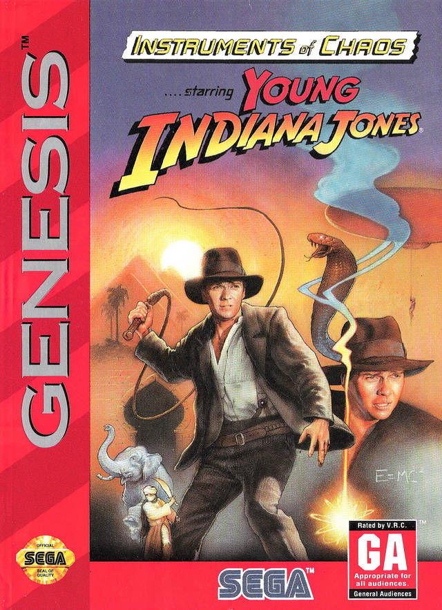 Instruments of Chaos starring Young Indiana Jones - SEGA Genesis [USED]