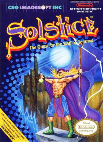 Solstice: The Quest for the Staff of Demnos - Nintendo NES [CIB]