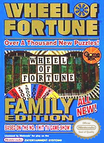 Wheel of Fortune: Family Edition - Nintendo NES [USED]