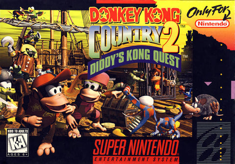 Donkey Kong Country 2: Diddy's Kong Quest - Super Nintendo [USED]