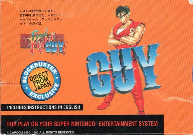 Final Fight Guy - Super Nintendo [USED]
