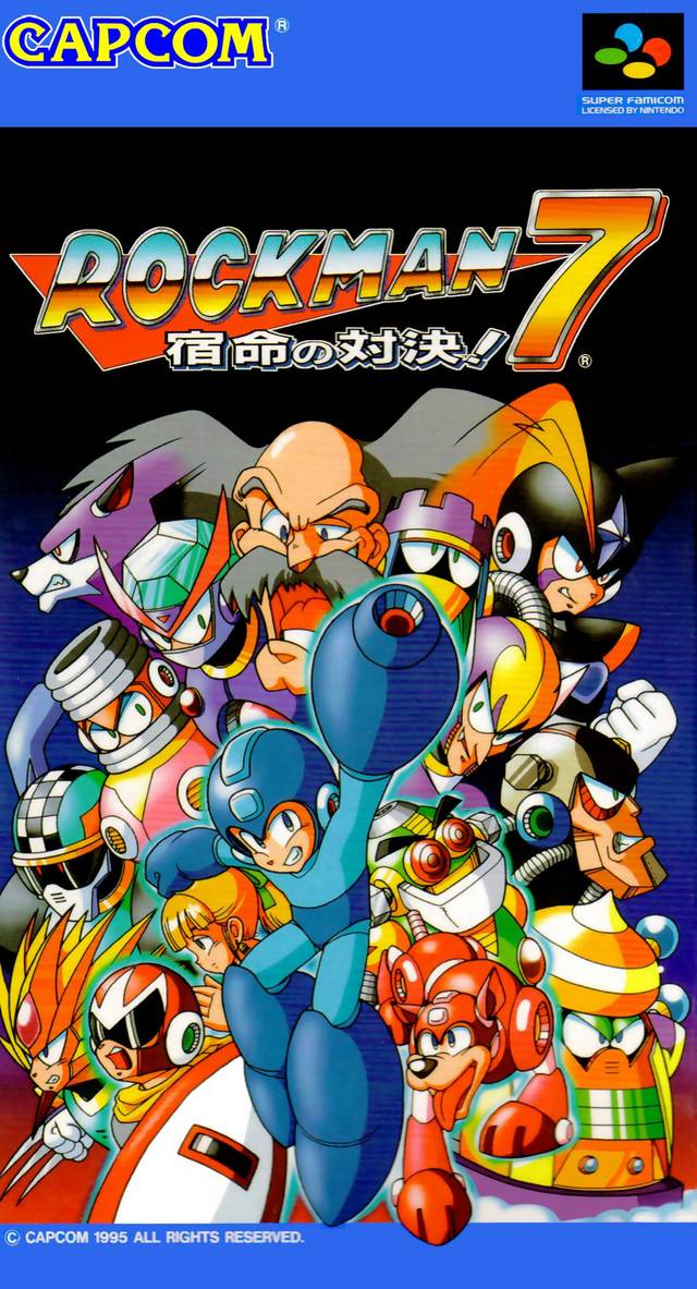 RockMan 7: Shukumei no Taiketsu! - Super Famicom (Japan) [USED]