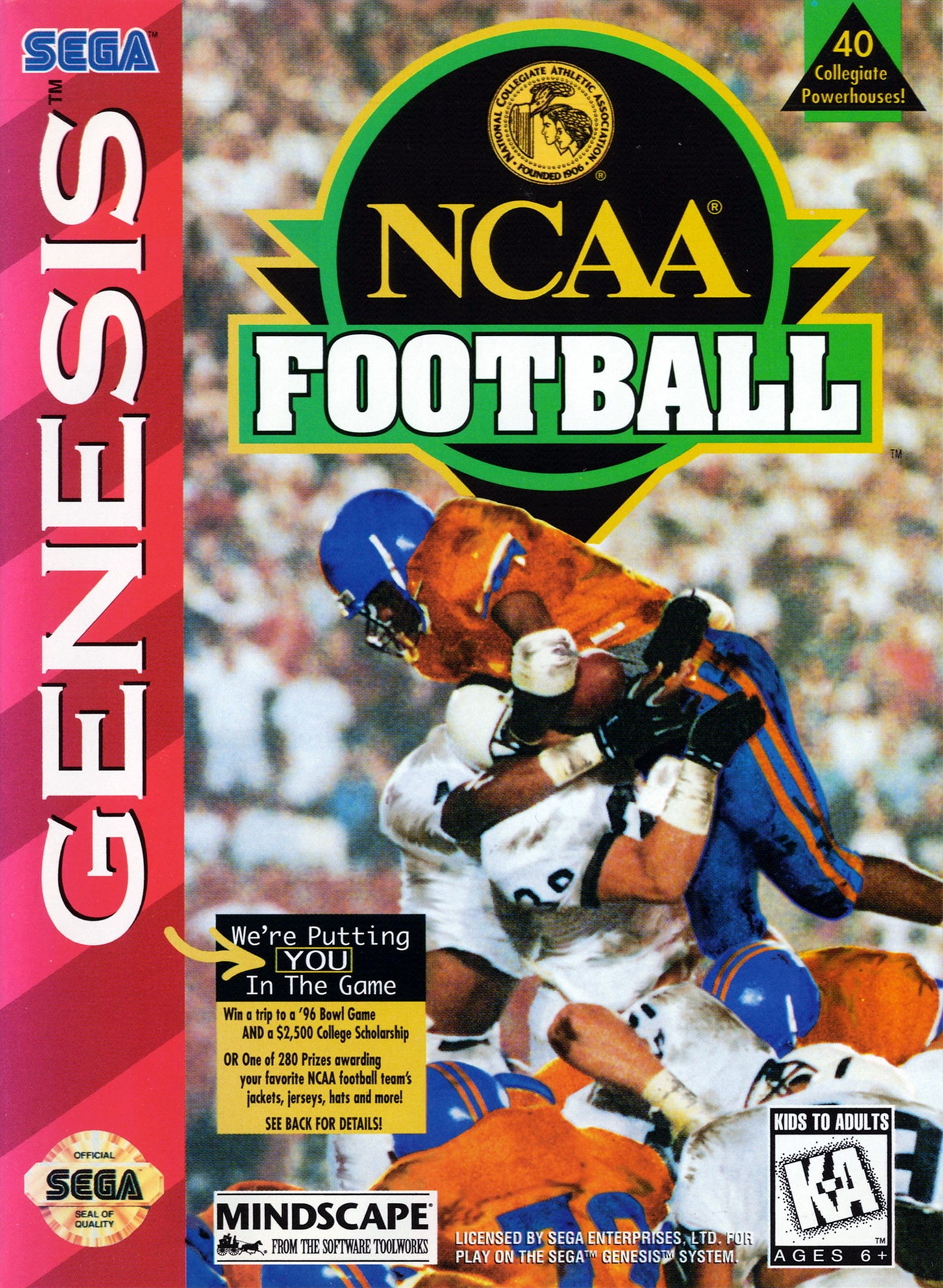 NCAA Football - SEGA Genesis [USED]